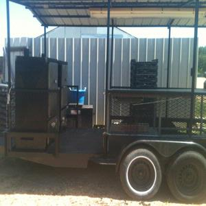 Heavy Duty Tandem Axle BBQ trailer
